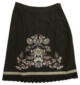 Ann Taylor LOFT Mini Skirt Brown