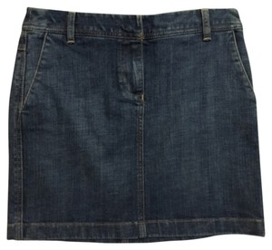 Ann Taylor LOFT Mini Skirt Blue denim