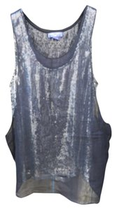 Jimmy Choo Tank Party Evening Top Silver/Black