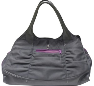 Title nine Leather Nylon Stella Workout Gym Shoulder Bag