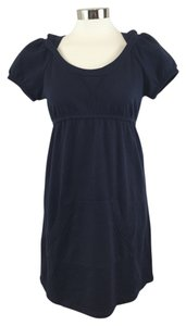 Juicy Couture short dress Navy Fleece Hooded Empire Waist on Tradesy