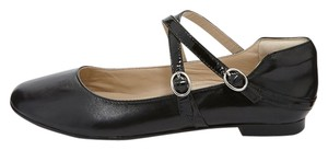 Andrew Stevens Mary Jane Leather Patent Leather Black Flats