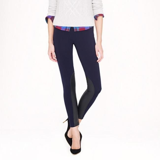 Preload https://item1.tradesy.com/images/jcrew-black-and-leather-riding-skinny-pants-size-6-s-28-1238630-0-0.jpg?width=400&height=650