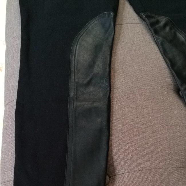 J.Crew Skinny Pants Black and leather riding pant
