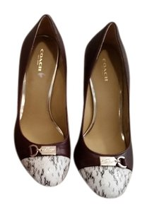 Coach Wine Pumps