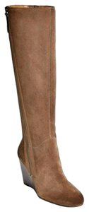 Franco Sarto Brown Suede Wedge taupe Boots