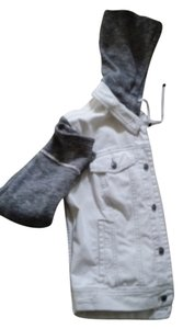 Free People White and grey Womens Jean Jacket