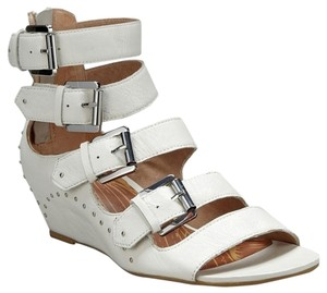 Matiko Wedge Studded Hidden Wedge White Wedges