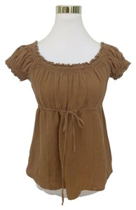 Juicy Couture Empire Waist Smock Top Brown