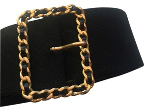 Chanel Chanel Fabric Belt with Chain Buckle