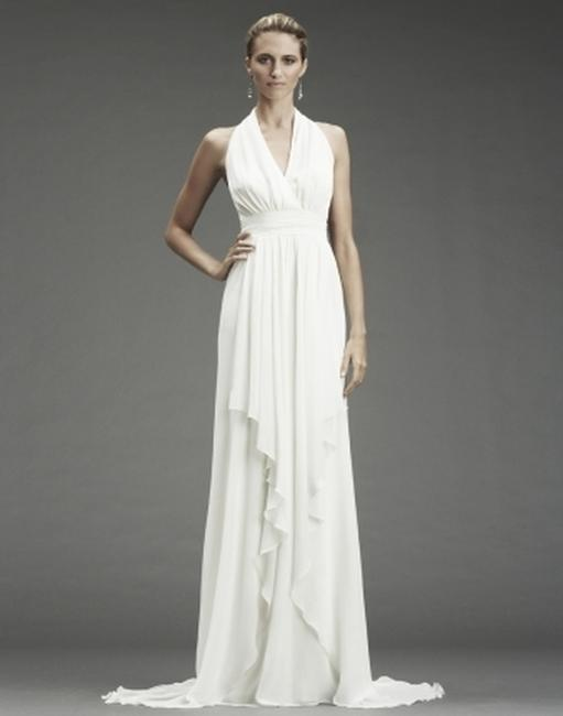 Item - Antique White Silk Grecian Inspired Gown 12 Fa0028 Formal Wedding Dress Size 6 (S)