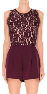 Keepsake the Label Burgundy Plum Wine Scallop Scalloped Lace Lace Dress