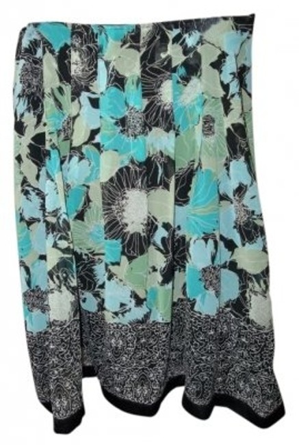 Preload https://item4.tradesy.com/images/turquoise-and-black-flower-pattern-knee-length-skirt-size-14-l-34-12388-0-0.jpg?width=400&height=650