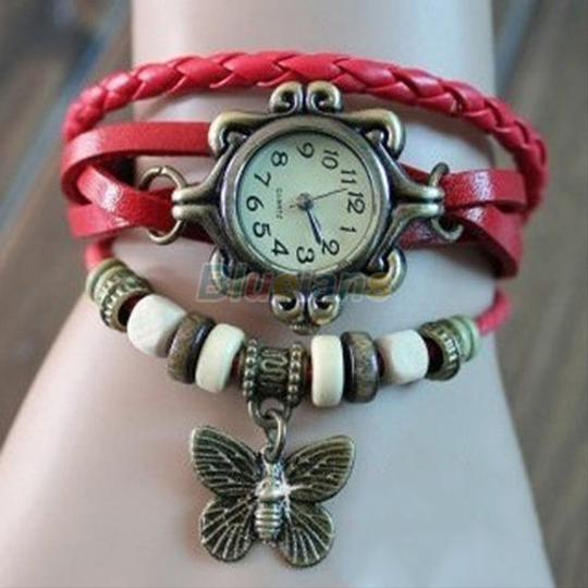 Preload https://item1.tradesy.com/images/unknown-red-bracelet-butterfly-watch-free-shipping-1238825-0-0.jpg?width=440&height=440