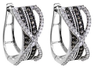 ABC Jewelry Diamond semi-hoops