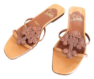 Christian Louboutin 36 Gladiator Tan Sandals