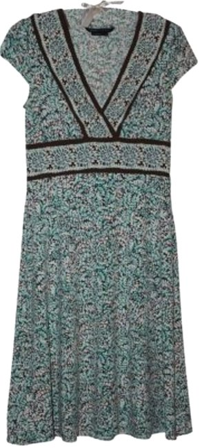 BCBGMAXAZRIA short dress Turquoise and brown print on Tradesy