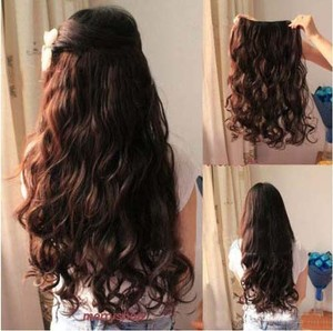 Reduced! Full Head Wavy Hair Extension Nat Black Free Shipping