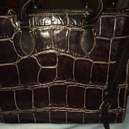 Dooney & Bourke Satchel in Deep Purple