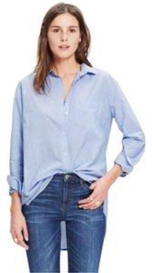 Madewell Button Down Shirt Waterfall blue