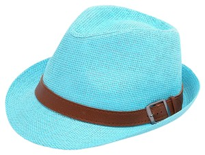 Other Blue Floral Accent Summer Hat Fedora