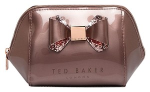 Ted Baker New Small Trapeze Glitter Bow Cosmetic Case