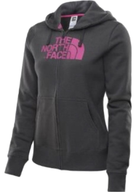 Item - Charcoal/Pink Half Dome Activewear Outerwear Size 8 (M, 29, 30)