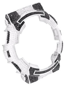 G-Shock G Shock Watch Bezel Black/White Lab Diamond GA100 Iced Out Custom Lowest Price