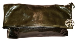 The Sak Retro Classic Logo Signature brown Clutch