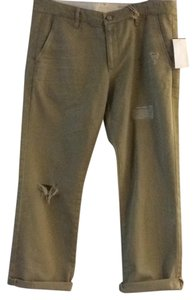 AG Adriano Goldschmied Capri/Cropped Pants Khaki