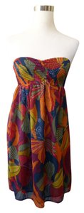 Roxy short dress Butterfly Strapless on Tradesy