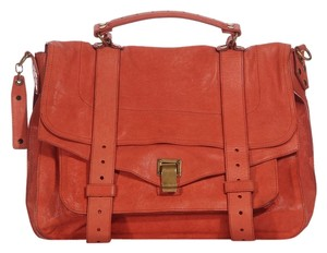 Proenza Schouler Coral Burnt Orange Shoulder Messenger Bag