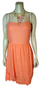 short dress light orange New Sleeveless Summer on Tradesy