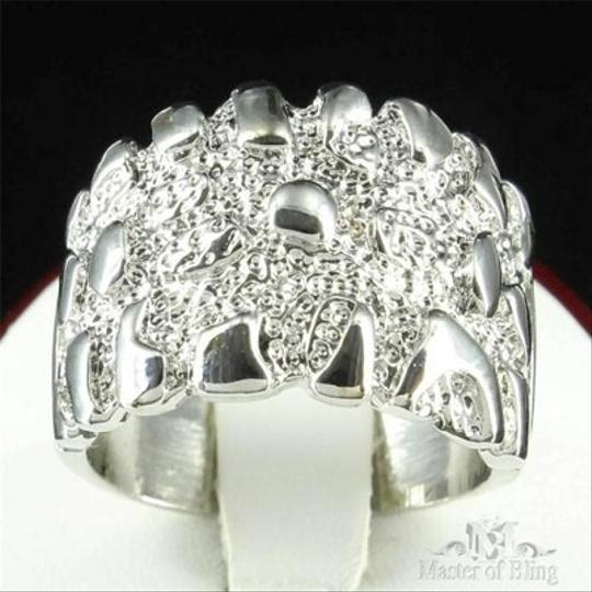 Other Mens Ring White Gold Finish Unique Customized Simulated Diamond Band Discount Image 1