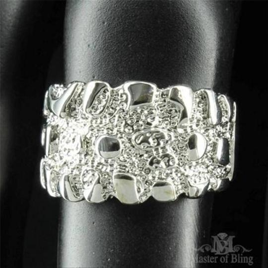 Other Mens Ring White Gold Finish Unique Customized Simulated Diamond Band Discount Image 2