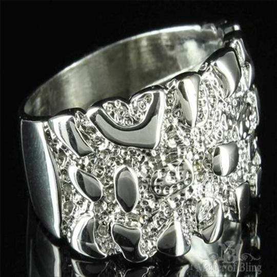 Other Mens Ring White Gold Finish Unique Customized Simulated Diamond Band Discount Image 3