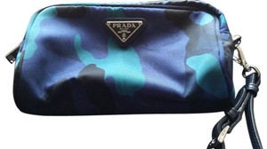 Prada Wristlet in Blue Camouflage