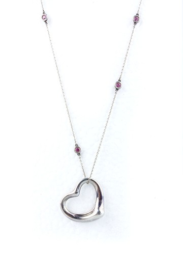 Preload https://item4.tradesy.com/images/tiffany-and-co-sterling-silver-and-pink-sapphire-elsa-peretti-color-by-the-necklace-1239163-0-3.jpg?width=440&height=440