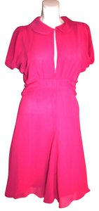 Karl Lagerfeld short dress Hot Pink Retro Parisian on Tradesy