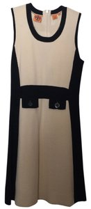 Tory Burch short dress Black and Cream on Tradesy