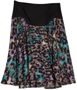 Diane von Furstenberg Skirt Black with multi colors