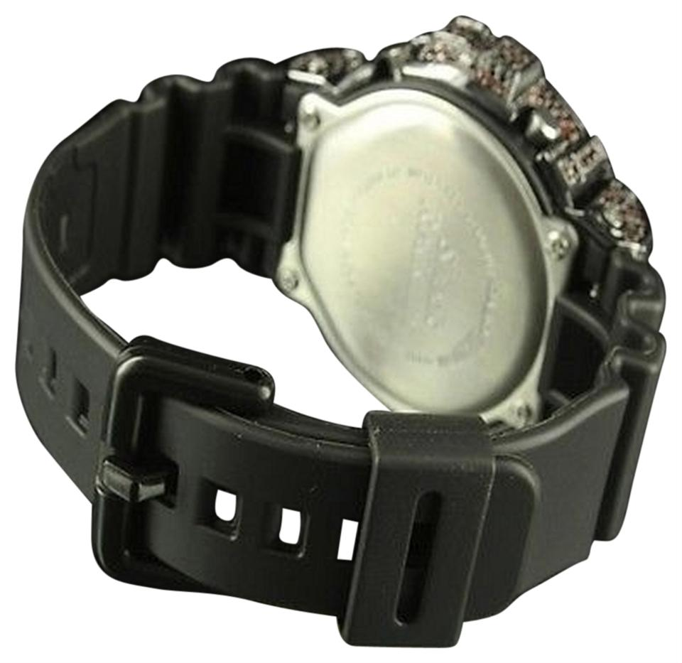 G Shock Black Red Lab Diamond Silicon Band Real Digital Iced Out Watch 78 Off Retail
