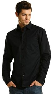 A|X Armani Exchange A/x Button Down Shirt Black