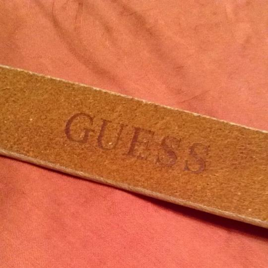 Guess Tan Leather With Multi Colored Beads