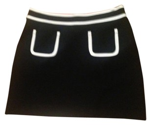 Banana Republic Mini Skirt Black & White