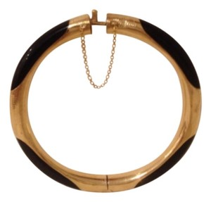 Fine Jewelry Vault yellow gold black stone bangle