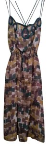 Wendy Katlen short dress Multi color block print on Tradesy