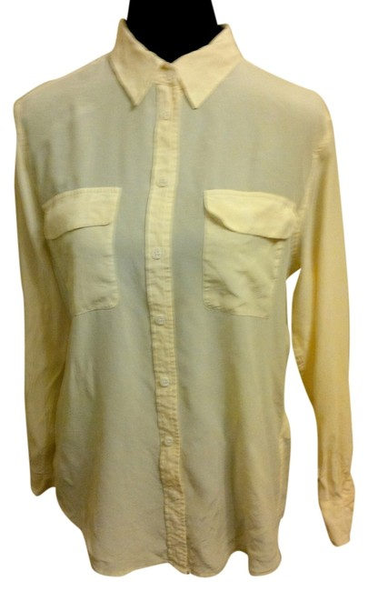 Equipment Silk Semi-sheer Top Ivory