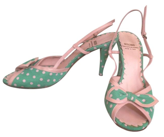 Item - Green and Pink Cheap Chic Sandals Size US 8 Regular (M, B)