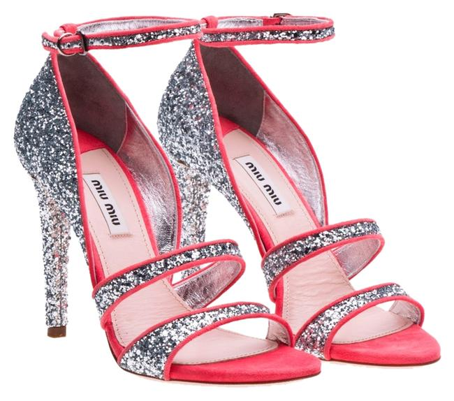 Item - Silver and Pink Formal Shoes Size US 6.5 Regular (M, B)
